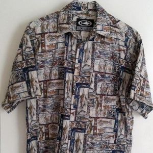 Mako Sportswear Men's Shirt L Fishing Boat Marlin